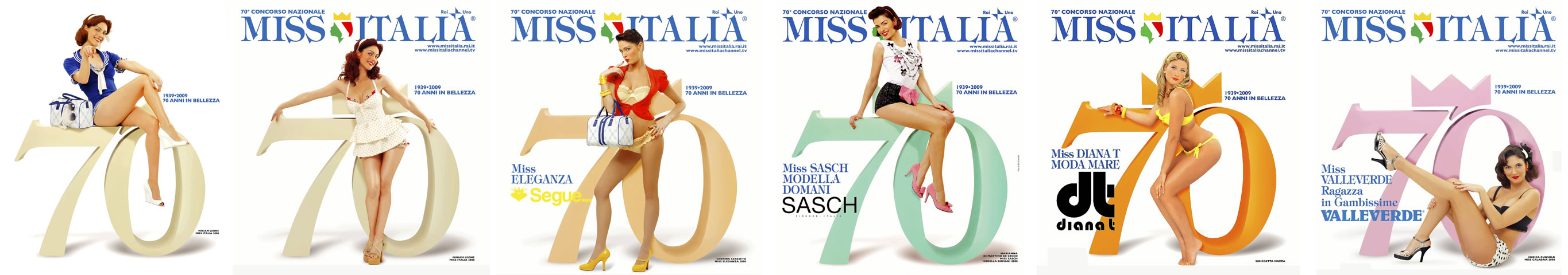Advertising Campaign posters Miss Italy 70th anniversary