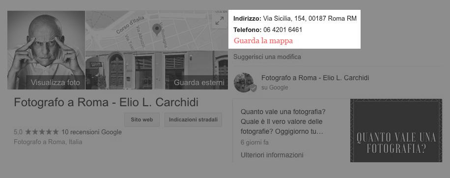Elio Leonardo Carchidi, studio fotografico per foto professionali a roma