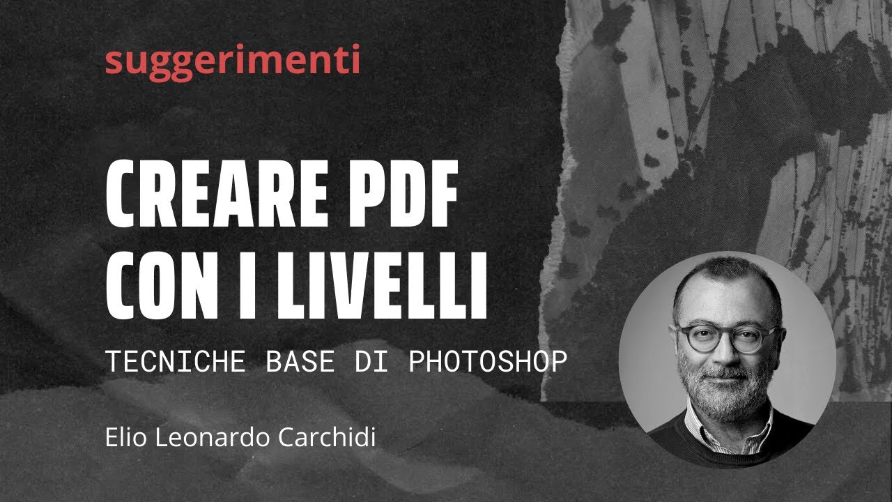 creare pdf da livelli di Photoshop