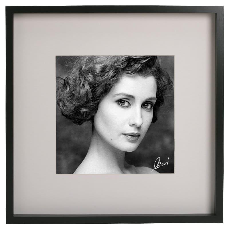 Foto ritratto d'arte in bianco e nero